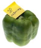 zielonych pieprzy 30 dzwonkowych kalorii Obraz Stock
