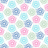 Zielonych różowych błękitnych barwionych ptaków bezszwowy wzór Obrazy Royalty Free