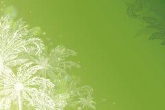 Zielonych rozjarzonych drzewek palmowych horyzontalny tło ilustracja wektor