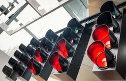 zielonych świateł czerwony ruch drogowy kolor żółty Zdjęcie Stock