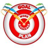 Zielpfeile zum Erfolg Lizenzfreie Stockbilder