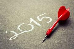 Zielplan 2015 Stockfotografie