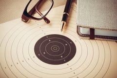 Zielsetzung mit Ziel, Zielen und Planungskonzept Lizenzfreie Stockbilder