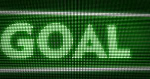 Zieltitel auf großer Grün LED-Anzeige stock abbildung