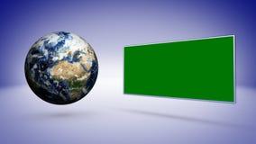 Ziemi i błękita Pusty Astronautyczny tło Fotografia Stock