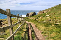 Ziemi końcówka Cornwall Anglia Obraz Royalty Free
