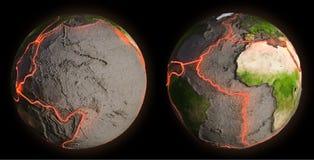 Ziemi linie uskoku ilustracji