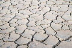 Ziemi ziemi pęknięcie, gruntowy brak woda Zdjęcie Royalty Free