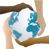 Ziemi ręki Fotografia Stock