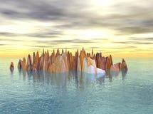 ziemi skalisty śpiczasty zdjęcia stock