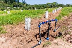 Ziemi uprawnych Wodnych drymb klap irygacji Nowa instalacja zdjęcie royalty free