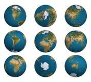 ziemia 1 globe strzał royalty ilustracja
