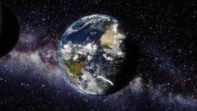 Ziemia, asteroida i księżyc, royalty ilustracja