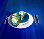 ziemia azji ciasta royalty ilustracja
