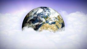 Ziemia, chmury i nieba tło, Czysty natury pojęcie, animacja, rendering, pętla zdjęcie wideo