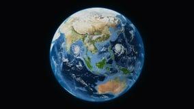 Ziemia dzień, całkowity widok od kosmosu ilustracja wektor