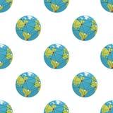 Ziemia i globalizacja Bezszwowy wzór royalty ilustracja