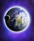 Ziemia i księżyc Obrazy Stock