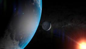 Ziemia i księżyc Obrazy Royalty Free