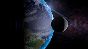 Ziemia i księżyc ilustracja wektor