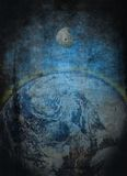 Ziemia i Księżyc   Zdjęcia Stock