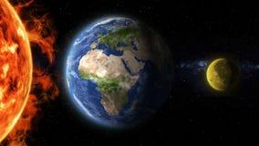 Ziemia i księżyc wyrównujący ilustracja wektor