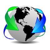 Ziemia 16.04.13 i strzała Obraz Royalty Free
