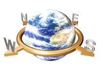 ziemia kompas. ilustracji