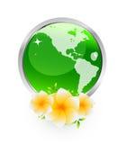 ziemia kwiaty Ilustracji