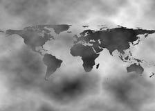 ziemia nad zanieczyszczeniem ilustracja wektor