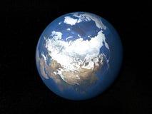 Ziemia od astronautycznego Rosja bez chmur Zdjęcia Royalty Free