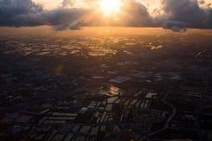 Ziemia od ptasiego oka widoku Zdjęcia Royalty Free