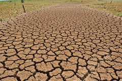 Ziemia pękająca przez suszy Fotografia Royalty Free
