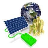 Ziemia, panelu słonecznego pojęcie Zdjęcie Stock