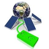 Ziemia, panelu słonecznego pojęcie Obrazy Royalty Free