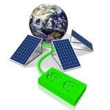 Ziemia, panelu słonecznego pojęcie Obraz Royalty Free