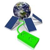 Ziemia, panelu słonecznego pojęcie Obrazy Stock