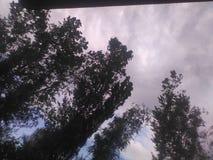 Ziemia pod chmurami Obrazy Stock