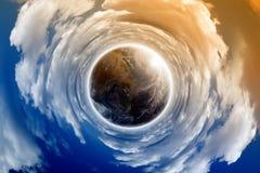 Ziemia w chmurach obraz stock