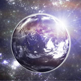 Ziemia w przestrzeni. Zdjęcie Royalty Free