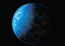 Ziemia w przestrzeni ilustracja wektor