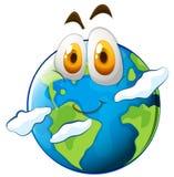 Ziemia z szczęśliwą twarzą royalty ilustracja