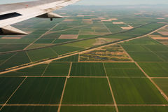 Ziemie uprawne Przeglądają Od samolotu 2 Zdjęcie Stock