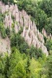 Ziemscy ostrosłupy Renon, Bolzano, - Fotografia Royalty Free