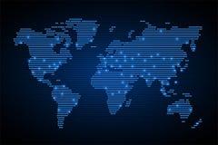 Ziemska światowa mapa ilustracji