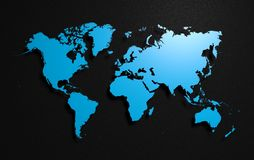 Ziemska światowa mapa ilustracja wektor