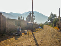Ziemska droga w Colca dolinie w Peru Fotografia Royalty Free
