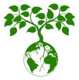 Ziemska drzewna grafika Fotografia Royalty Free