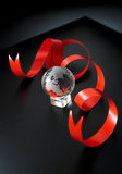 Ziemska kryształ piłka Obraz Stock
