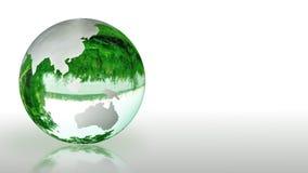 Ziemska kula ziemska robić szkło, środowiskowa konserwacja, looping, akcyjny materiał filmowy royalty ilustracja